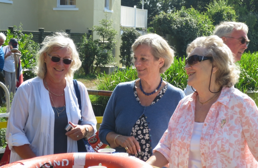 Ann Myers (Chairman) (centre) at a summer 2015 social event